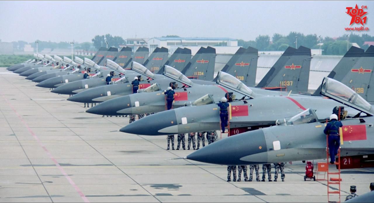 PLAAF J-11 fighter aircraft